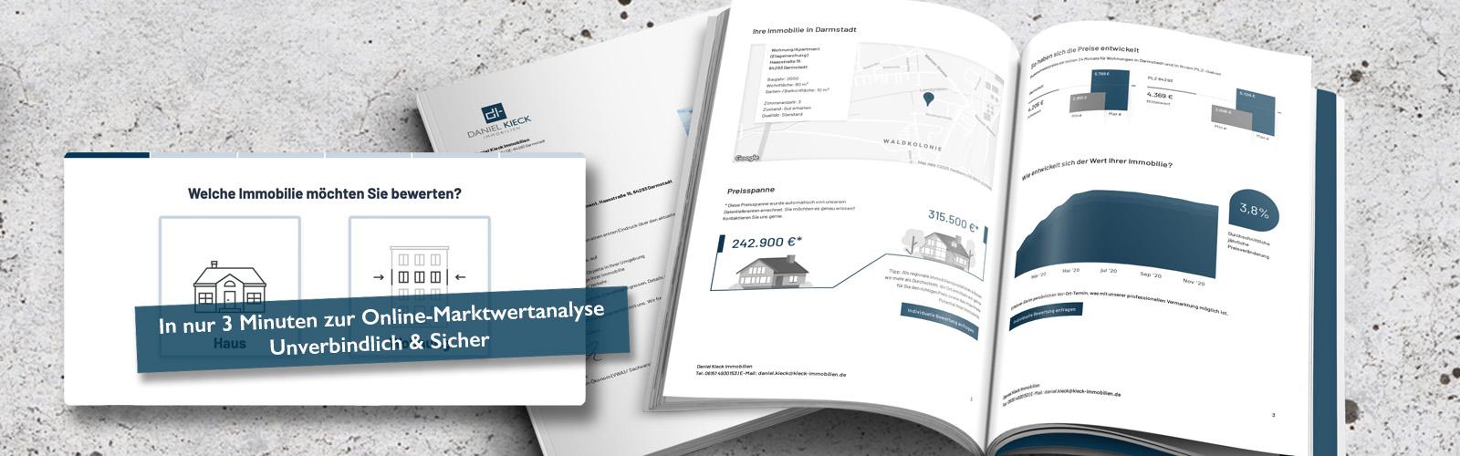 Daniel Kieck Immobilien - Online-Marktwertanalyse