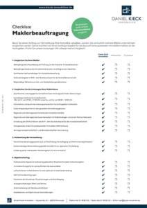 Checkliste zur Maklerbeauftragung